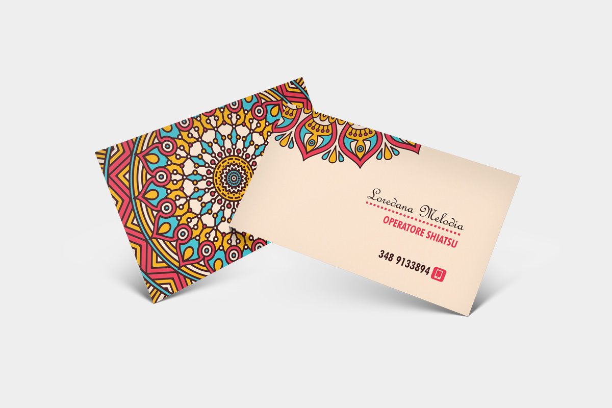 Business Card Graphic Design e Stampa