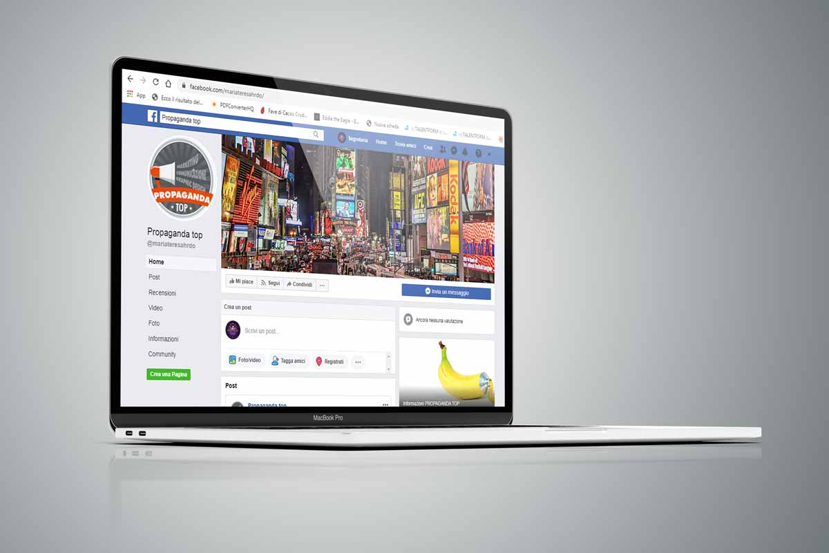 Facebook social manager web content