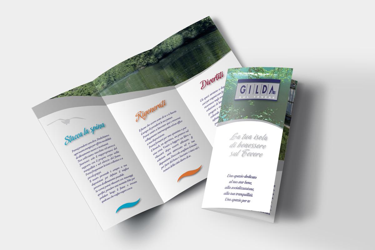 Pieghevole flyer stampa progetto grafico