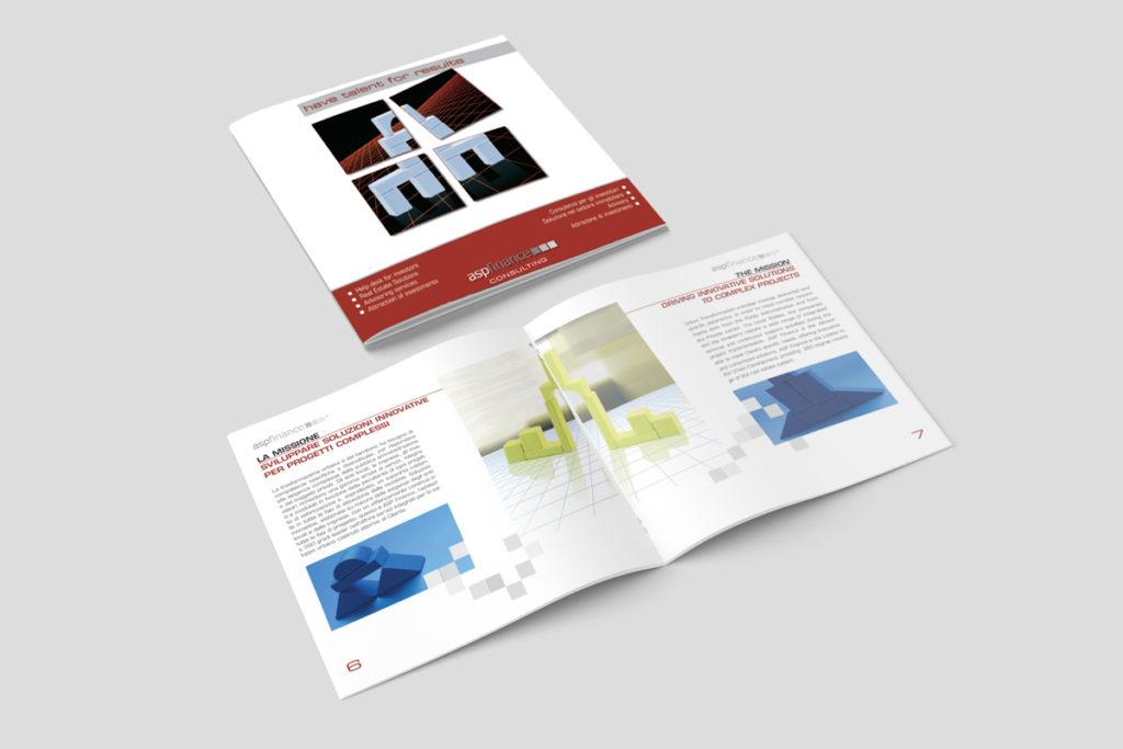 Brochure quadrata 20 pagina Stampa progetto grafico e impaginazione
