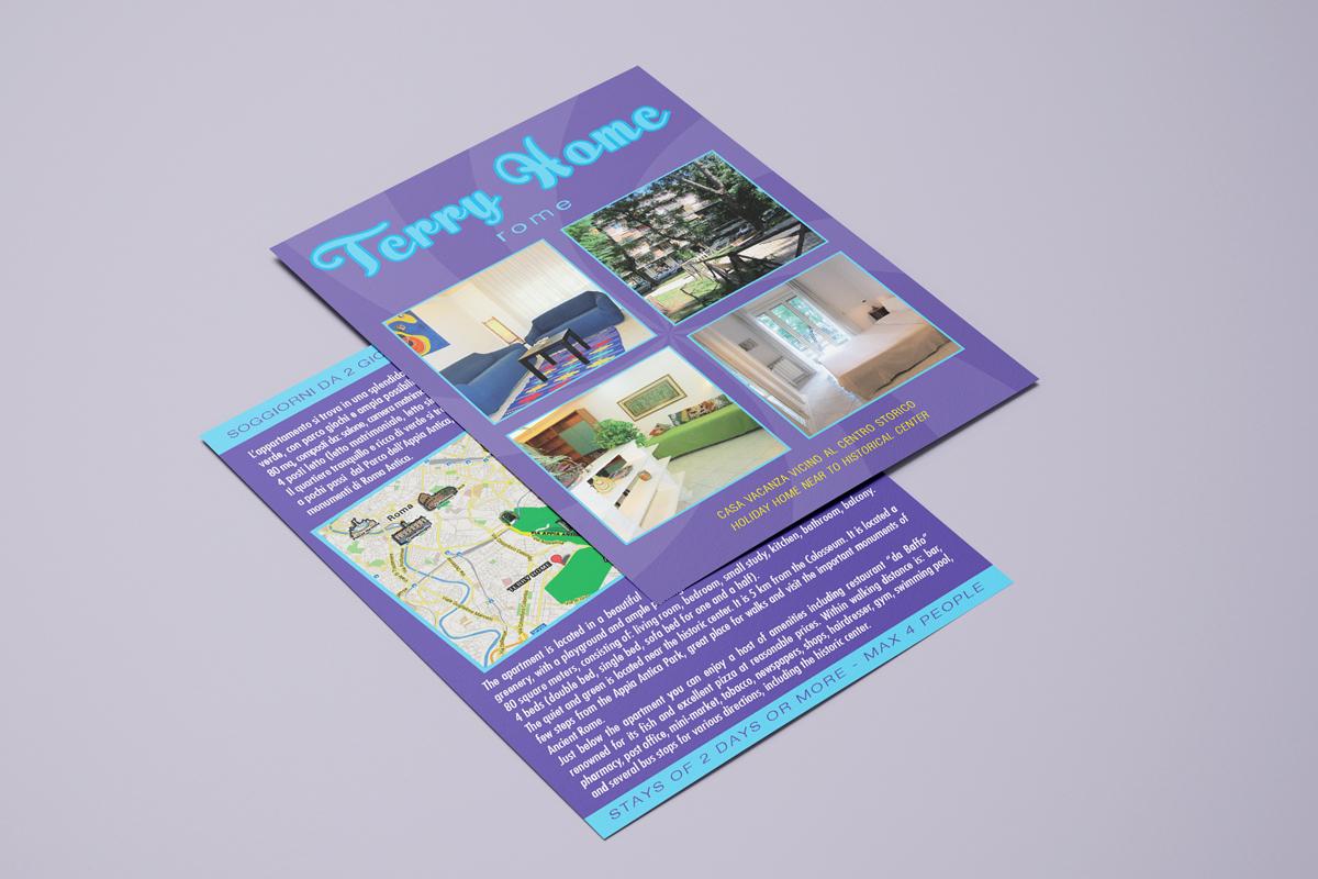 Flyer stampa fronte retro cartolina