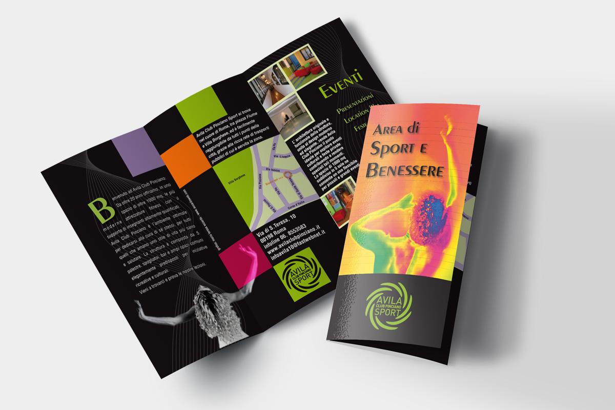 graphic design Pieghevole 3 ante stampa Roma