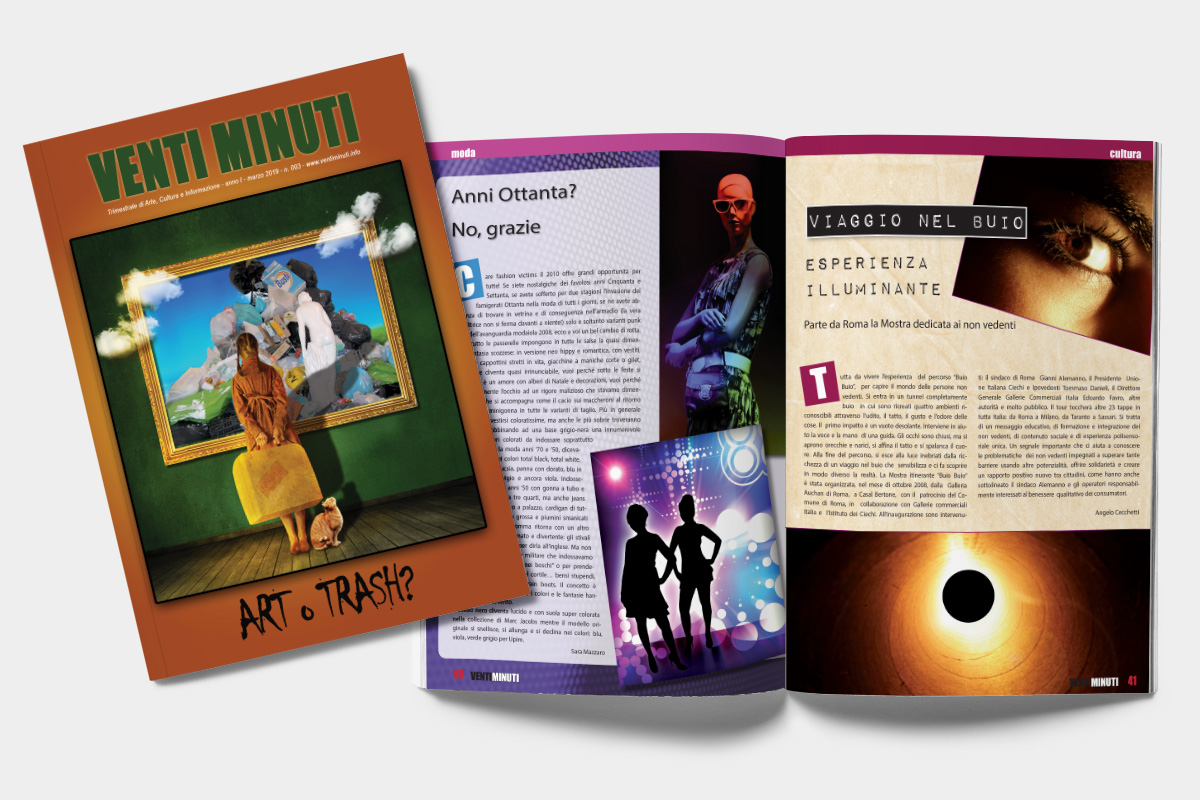 StudioCopertina e impaginazione rivista A4 Stampa