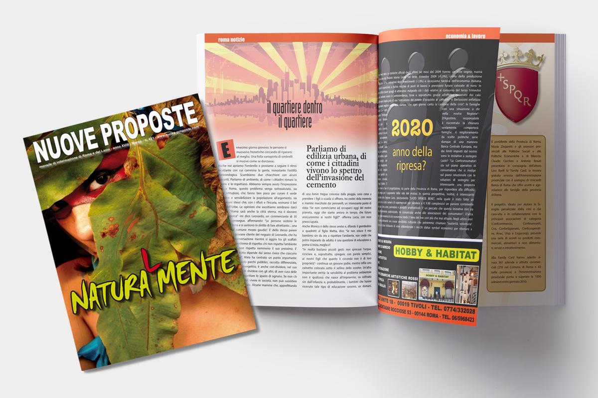 Copertina Magazine mensile e impaginazione rivista