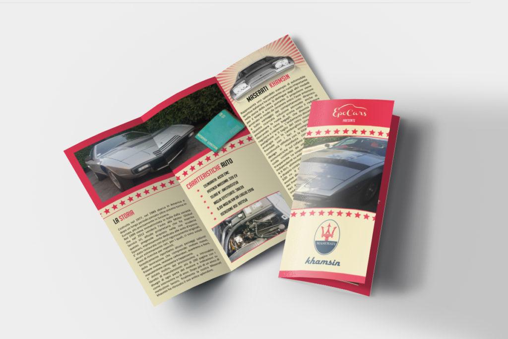 Pieghevole per Maserati Auto D'Epoca