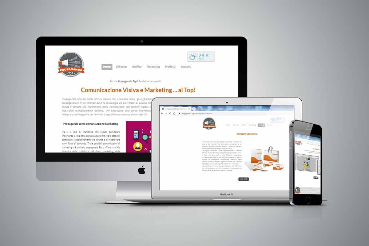 Sito web design Propaganda Top