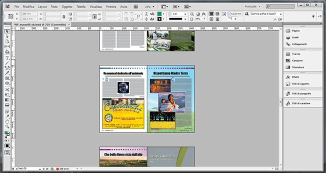 impaginazione Rivista indesign Adobe