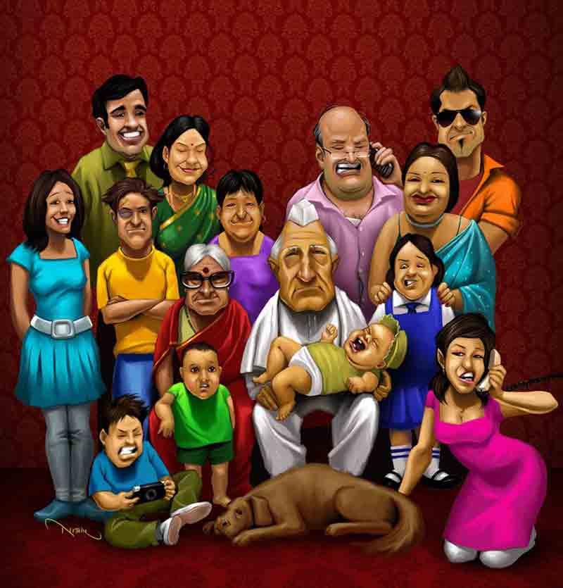 famiglia numerosa asiatica